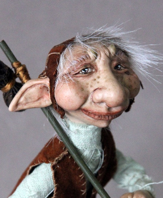 Art Doll One of a Kind Oscar the Troll Fantasy Sculpture