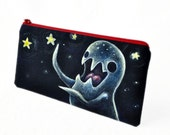 Handpainted pouch: Star Eating Monster