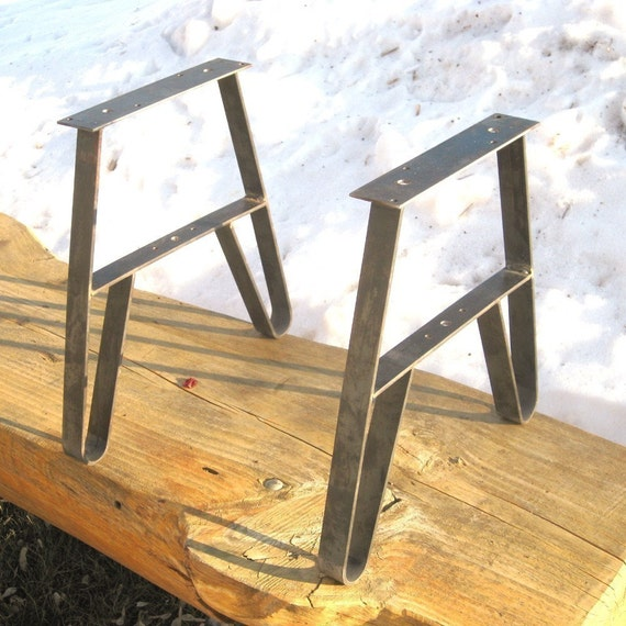 Bench or Table DIY with these Wrought Steel Legs-UnPainted