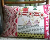 One of a Kind Garden Collage Pillow