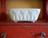 Ivory White Vase Mid-Century American Pottery Planter