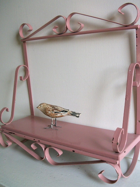 Sweet Pink Vintage Metal Shelf