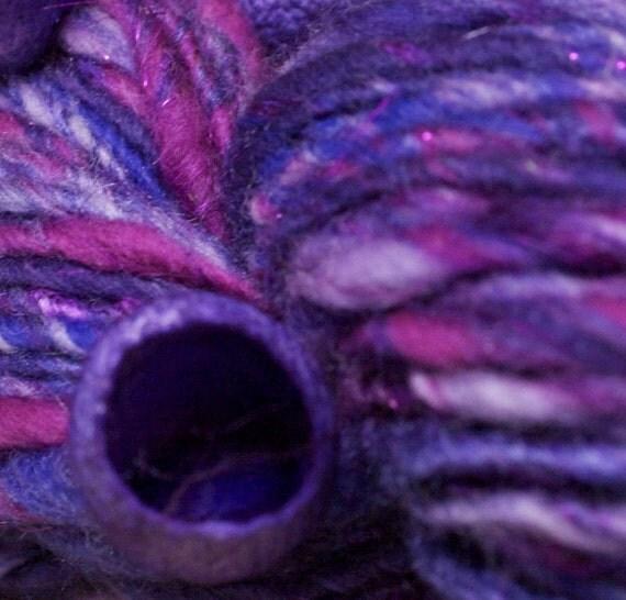 Parma Violet  Spindle Spun Art Yarn 114 mtrs 124yds