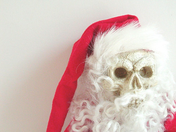 Santa Claus, Politically Correct, Santa Claus Doll, Primitive Doll, Red, Scarlet, White, Christmas, Holiday, Gothic, Santa Clause, Skeleton,