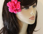Hot Pink Tropical Flowers on an Alligator Clip - Hair Flower