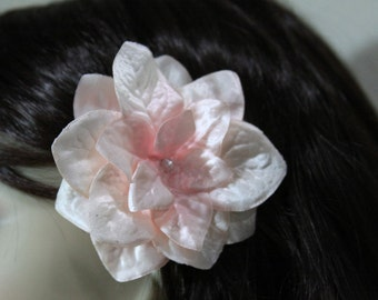 1 Light Pink Flower on an Alligator Clip - Handmade Flower Hair Accessories