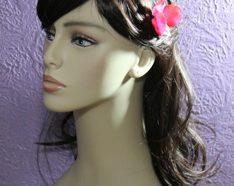 Dark Pink Orchid on a Bobby Pin - Handmade Hair Flower