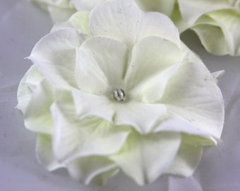 White Flower on an Alligator Clip- Handmade Hair Flower