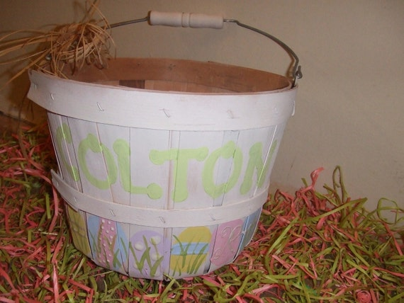 Personalized Hand Painted Easter Baskets By Lovefromtwentyfive