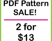 PATTERN SALE - Pick any 2