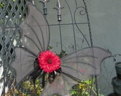 Black Fairy Wings Perfect for Gothic Halloween Dress Up Party