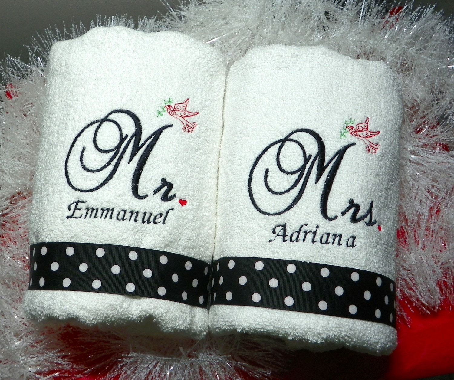 Wedding Hand Towels Mr. And Mrs. Personalized Towel