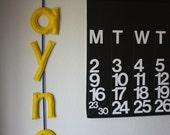 Yellow & Royal Blue Modern Felt Letters