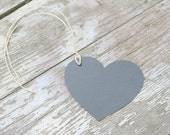 Set of 12 Chalkboard Finish Gift Tags - hearts