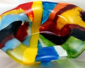 Fused Glass Dish - Colorful Fused Frit