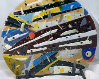 Fused Glass Suncatcher - Abstract Fusion