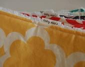 Baby Burp Cloths - Design Your Own Set of 5 Burp Cloths, Choose from over 80 Designer Fabrics