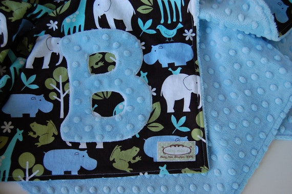 Personalized Baby Blanket with Initial, Choose Your Own Fabrics For Your Toddler or  Baby Blanket