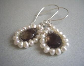 Smokey Quartz and Pearls