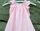 toddler dress, upcycled from men's dress shirt