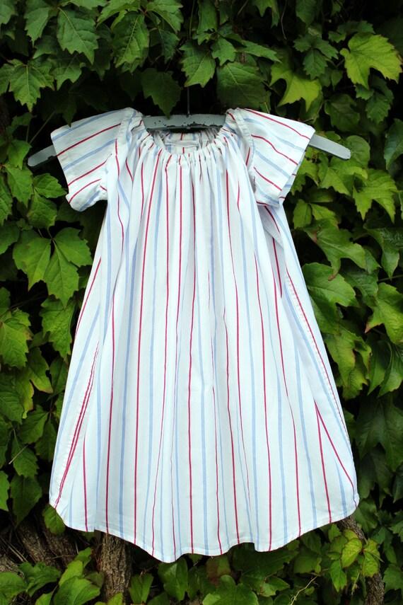 girls dress, upcycled from men's dress shirt