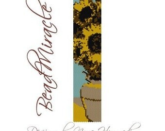 Sunflowers - PDF Peyote Barcelet Pattern