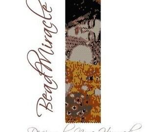 Klimt Kiss - PDF Peyote Barcelet Pattern