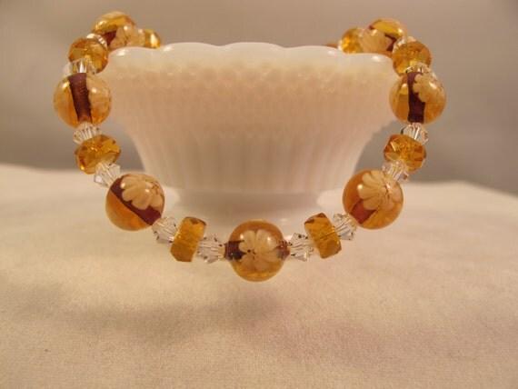 Venetian Millefiori Glass Bracelet 925 Sterling