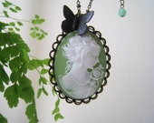 Vintage Style Victorian Lady Cameo Necklace