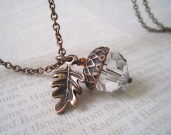 Acorn and Oak Leaf Necklace