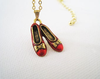 Wizard of Oz Dorothy Shoes Necklace