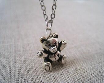 Tiny Teddy Bear Necklace