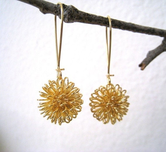 Lovely Dandelion Earrings