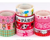 Set of 10 Kawaii Japanese Diy Deco Tape -  5m per tape