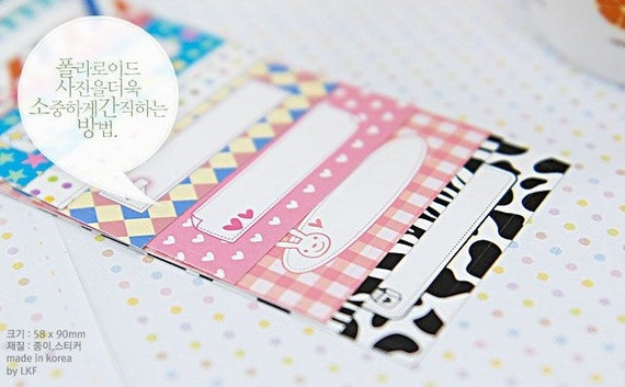 2 Sets of 20 Sheets Message Memo Stickey Photo Frame, Polaroid Film Skin (Message Memo)