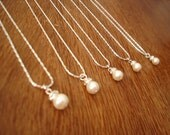 5 Bridesmaids Jewelry Gift Necklaces, Simple & Elegant - gift under 15