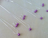 6 Radiant Orchid Bridesmaid jewelry sets -  Necklace and Earrings - purple, lilac