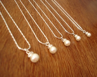 6 Bridesmaid Gifts Necklaces Simple & Elegant - gift under 15