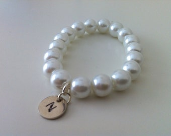 3 Flower girl initial bracelet gifts - Personalised custom little girl gifts