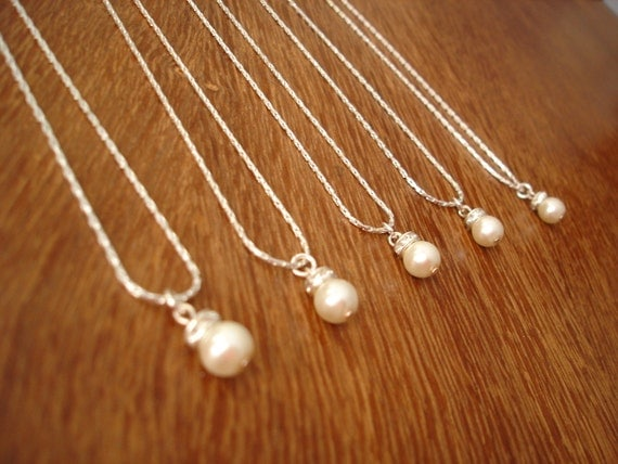 4 Bridesmaid Gift Necklaces Simple & Elegant - gift under 15