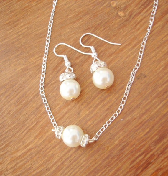 Bride, bridesmaid & flowergirl jewelry sets - reserved for Naomi
