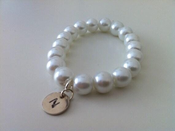 Little girl initial bracelet gift