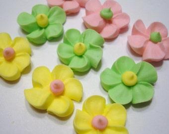 LOT of 100 mini royal icing flowers