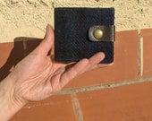 Men's wallet - Harris tweed deep blue