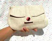 Linen Clutch purse