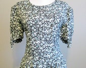 RESERVED UNTIL 9/9 Boho Floral Dress Vintage Summer Garden Party Medium