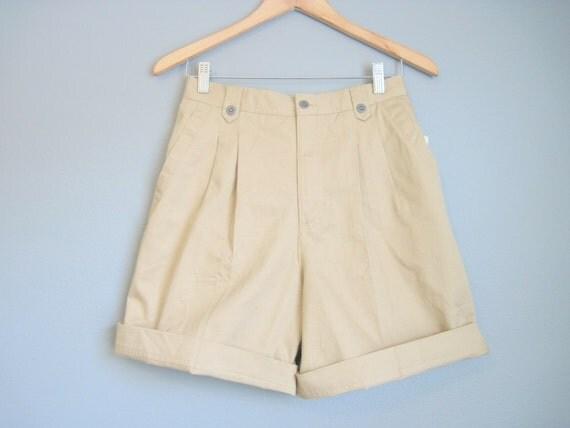 Waist Shorts Khaki Unworn Vintage Safari Small Medium