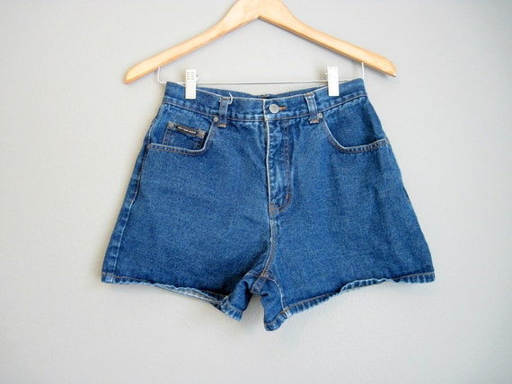 High Waisted Jean Shorts Vintage Denim 1990s Small