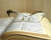 Vintage cat eye glasses 1950s Bausch and Lomb aluminum