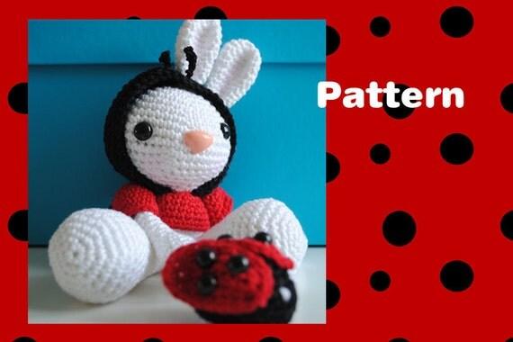 Ladybug Bunny amigurumi crochet pattern by MadebyRenske on ...